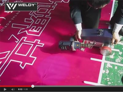 Сварка внахлест горячим воздухом технических ПВХ-тканей аппаратом WELDY FOILER
